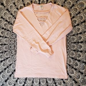 Victoria's Secret Pink XS Cutout Pink Long Sleeved